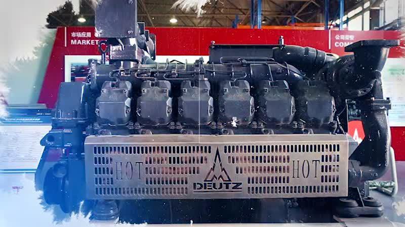 12-ти цилиндрованный судовой двигатель HC12V132/дизель-генераторная установка.