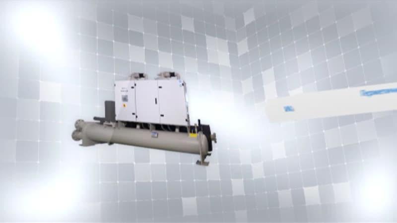 Герметичный компрессорно-конденсаторный агрегат водяного охлаждения