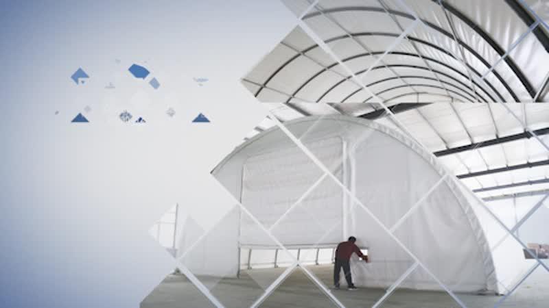 Каркасно-тентовый ангар (12 метров)