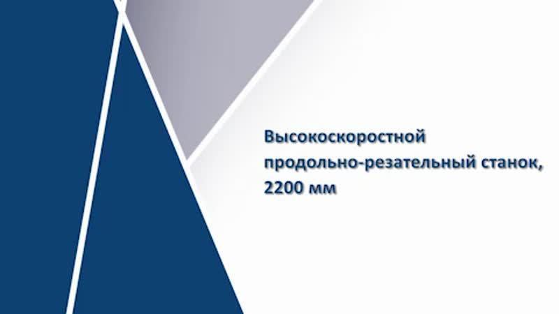 Высокоточный продольно-резательный станок 2200 мм