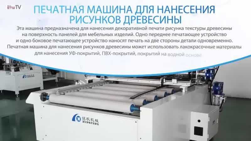 Печатная машина для нанесения рисунков древесины