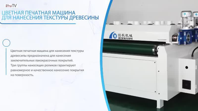 Цветная печатная машина для нанесения текстуры древесины